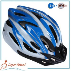 PC Printing Shell Bicycle Helmet LH-983 blue white for bike riding protective tools safety accessories