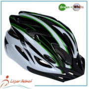 PC Printing Sheel Bicycle Helmet LH-983 black green for bike riding protective tools safety accessories