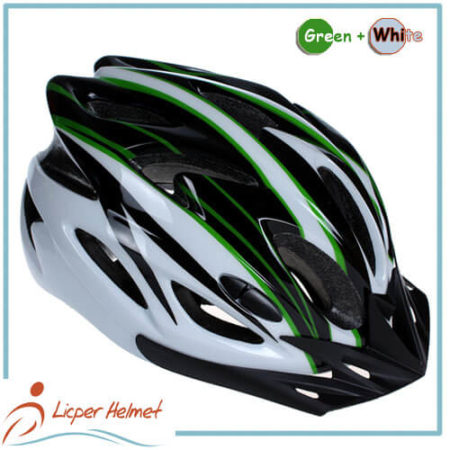 PC Printing Shell Bicycle Helmet LH-983 black green for bike riding protective tools safety accessories