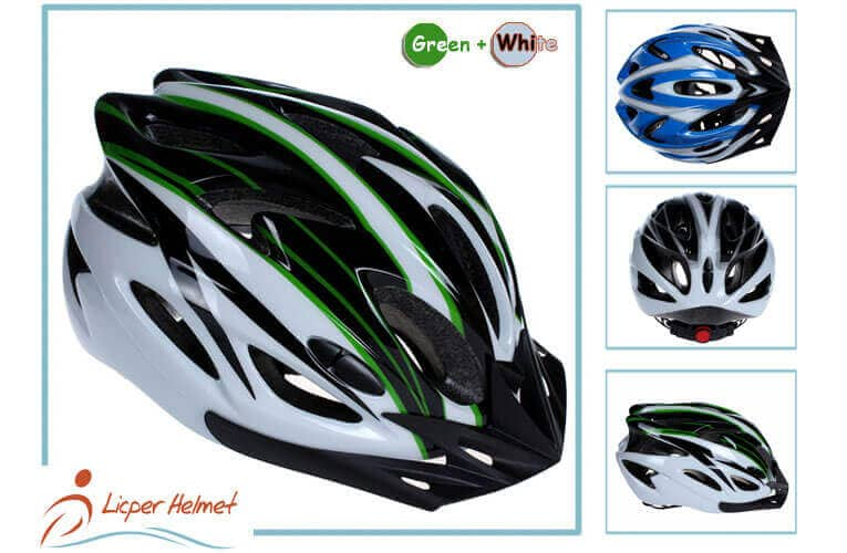 PC Printing Sheel Bicycle Helmet LH-983 black green more for bike riding protective tools safety accessories