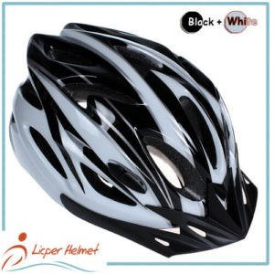 PC Printing Shell Bicycle Helmet LH-983 black white for bike riding protective tools safety accessories