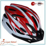 PC Printing Sheel Bicycle Helmet LH-983 red white for bike riding protective tools safety accessories