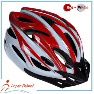 PC Printing Shell Bicycle Helmet LH-983 red white for bike riding protective tools safety accessories
