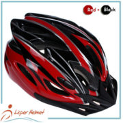PC Printing Sheel Bicycle Helmet LH-983 black red for bike riding protective tools safety accessories