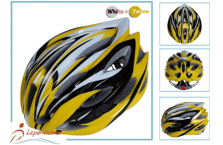 PC Inmold Shell Bicycle Helmet LH-986 yellow morefor adults bike riding protective tools safety accessories