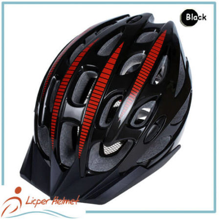 PC Inmold Out Shell Bicycle Helmet LH-987 black for Adults bike racing protective tools safety accessories