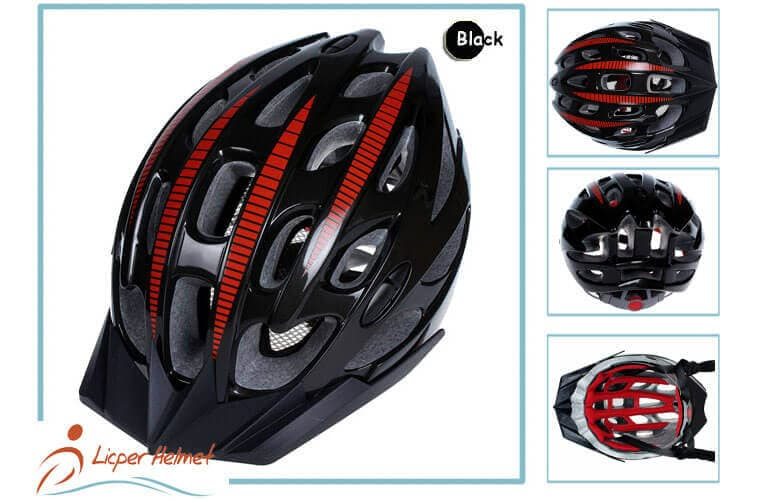 PC Inmold Out Shel Bicycle Helmet LH-987 black more for Adults bike racing protective tools safety accessories