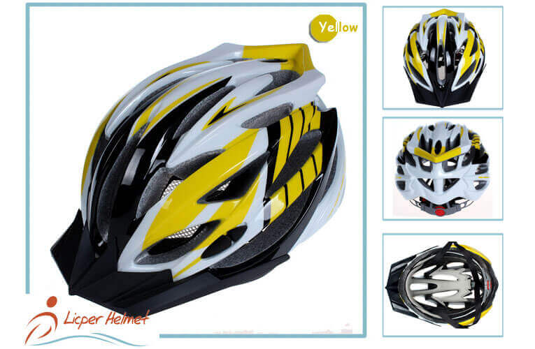 PC Inmold Shell Bicycle Helmet LH-988 Yellow more for Adults bike racing protective tools safety accessories
