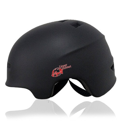 Circle Pansy Skate Helmet LH036 Black side for adults scooter, freestyle roller skater, inline skater and skateboarder safe accessory tools