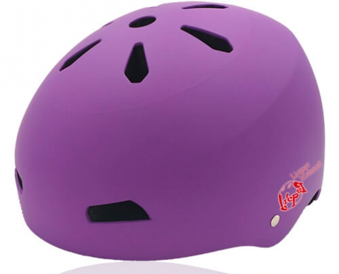 Diamond Daisy Skate Helmet LH513 Purple for adult roller, scooter, skateboarder, inline skater, bike and balance bike safe accessory tools
