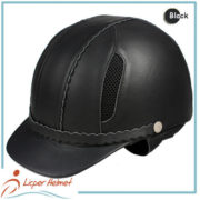 Leather Horse Riding Helmet LH-LY29 Black for Horse riding sport protective tools safety accessories