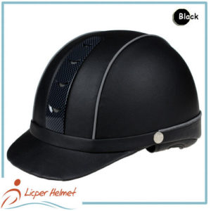 PU Leather Horse Riding Helmet LH-LY26 black for adults horse riding protective tools safety accessories