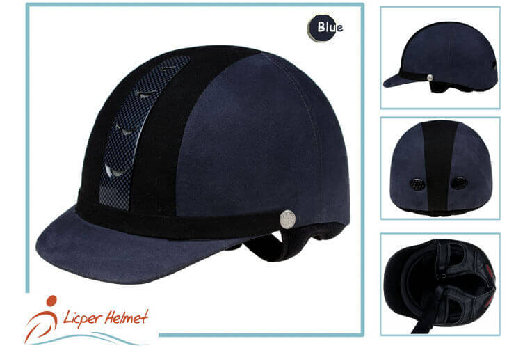 Fiber Coated ABS Out Shell Horse Riding Helmet LH-LY28 blue more for horse riding protective tools safety accessories
