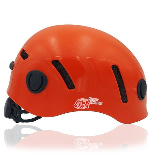 Lucky Liane Climbing Helmet LH208C Orange side for adults and kids rock climbing, mountain climbing and indoor climbing safety accessory tools