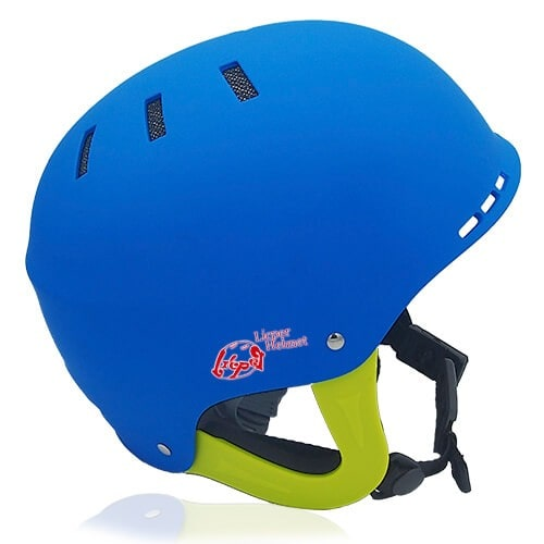 Ms Koala Water-sport helmet LH038W blue side for kids kayak, raft and water skate sport protective safe accessory tools