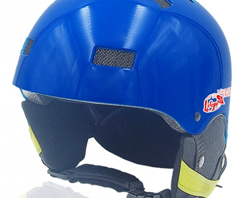 Oily Oak Licper Ski Helmet LH130A Blue for adults and kids skiing, snowboarding, ski racing and snow skate safety and warm accessory tools