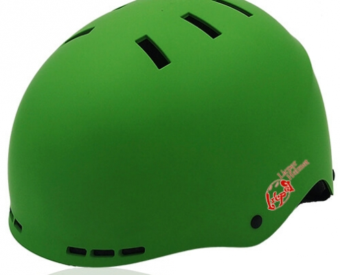 Prism Kale Skate Helmet LH038 Green for adult scooter, roller, inline skater, skateboarder, long boarder and balance bike rider safe accessory tools