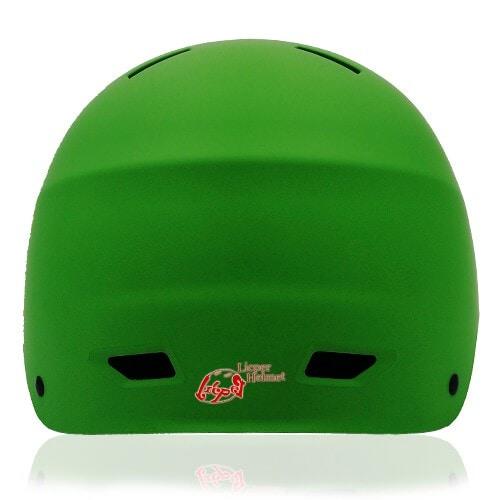 Prism Kale Skate Helmet LH038 Green back for adult scooter, roller, inline skater, skateboarder, long boarder and balance bike rider safe accessory tools