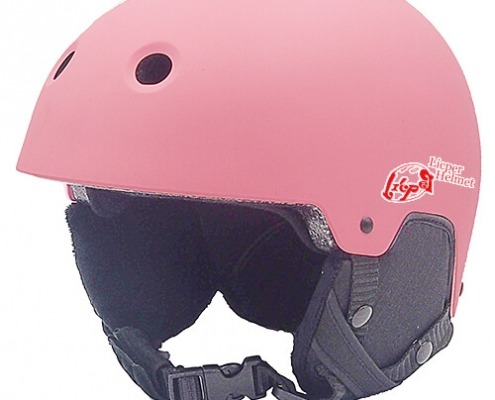 Rosy Rye Licper Ski Helmet LH230A Pink for skiing, snowboarding, ski racing and snow skate protection and warm equipment