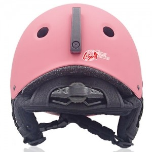 Rosy Rye Ski Helmet LH230A Pink back for adults skiing, snowboarding, ski racing and snow skate safety and warm accessory tools