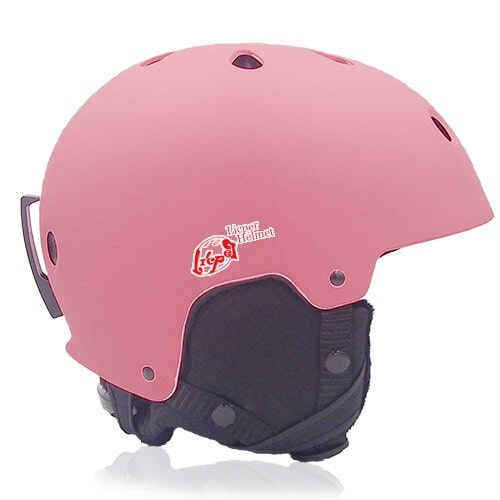 Rosy Rye Ski Helmet LH230A Pink side for adults skiing, snowboarding, ski racing and snow skate safety and warm accessory tools