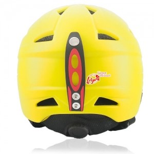 Wise Willow Ski Helmet LH508A Yellow back for adults skiing, snowboarding, ski racing and snow skate safety and warm accessory tools