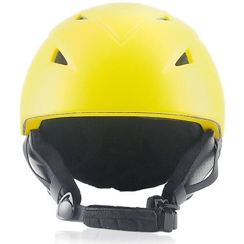Wise Willow Ski Helmet LH508A Yellow front for adults skiing, snowboarding, ski racing and snow skate safety and warm accessory tools