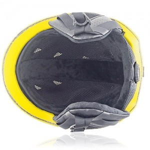 Wise Willow Ski Helmet LH508A Yellow inner for adults skiing, snowboarding, ski racing and snow skate safety and warm accessory tools