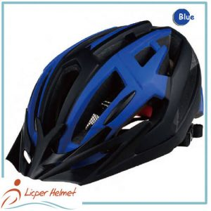 In-mold PC printed out shell bicycle helmet LH-329 blue for adults bike sport safety accessories
