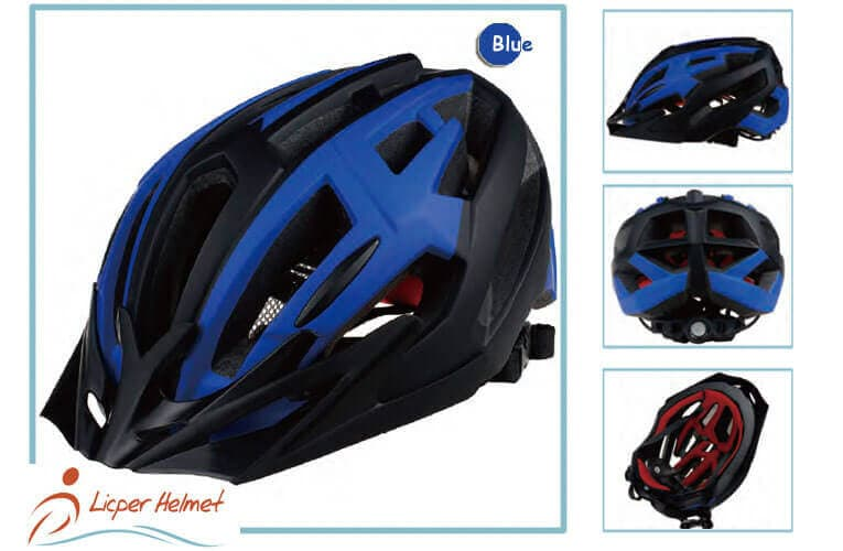 In-mold PC printed out shell bicycle helmet LH-329 blue more for adults bike sport safety accessories