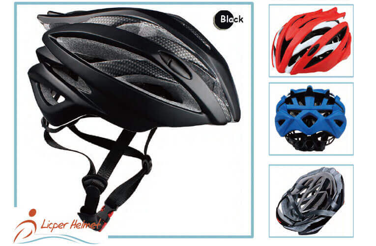 PC Printed Shell Bicycle Helmet LH-938 black more for adults bike sport safety accessories