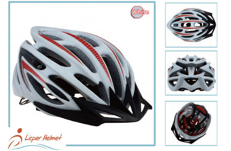 In-mold PC Printed Shell Bicycle Helmet LH-948 white more for adults bike sport safety accessories
