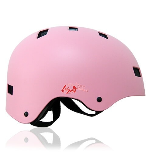Oval Orchid Skate Helmet LH130 Pink side for adults scooter, roller skate, skateboard, long board, inline skate and balance bike sport safe accessory tools
