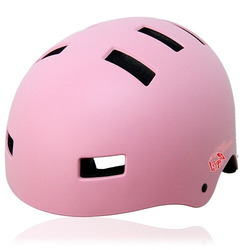 Oval Orchid Skate Helmet LH130 Pink for adults scooter, roller skate, skateboard, long board, inline skate and balance bike sport safe accessory tools