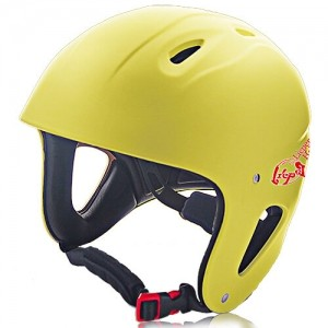 ABS Printed Shell Water-sport Helmet LH-026W Yellow for Adults and kids raft, kayak, canoe and water skate safe protective accessory tools
