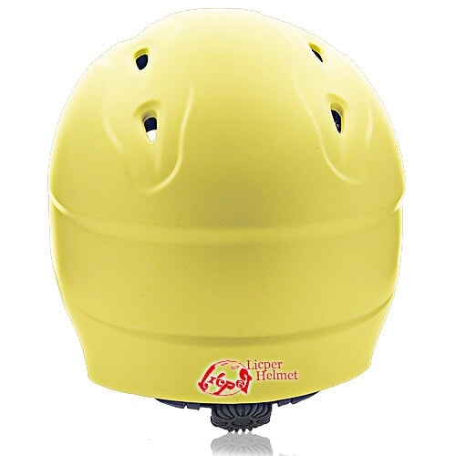 ABS Printed Shell Water-sport Helmet LH-026W Yellow back for Adults and kids raft, kayak, canoe and water skate safe protective accessory tools