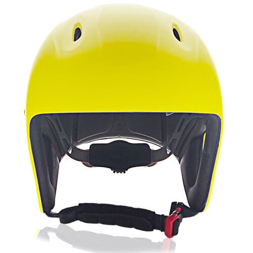 ABS Printed Shell Water-sport Helmet LH-026W Yellow Front for Adults and kids raft, kayak, canoe and water skate safe protective accessory tools