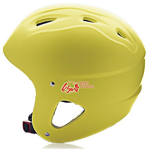ABS Printed Shell Water-sport Helmet LH-026W Yellow side for Adults and kids raft, kayak, canoe and water skate safe protective accessory tools