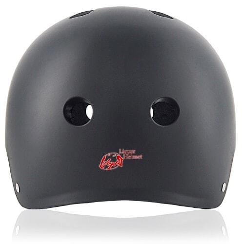 Cube Cactus Skate Helmet LH519 black back for adult skater, skateboarder, inline player, roller and scooter safe accessory tools