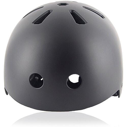 Cube Cactus Skate Helmet LH519 black front for adult skater, skateboarder, inline player, roller and scooter safe accessory tools
