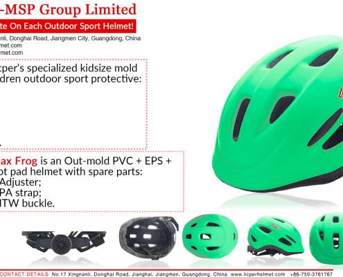 Kids Helmet - Flax Frog - Children Outdoor Adventure Protective Helmet