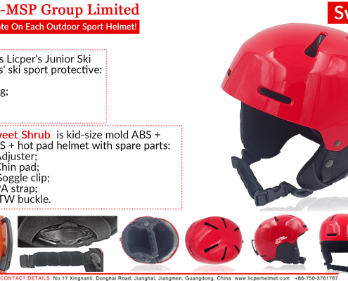 Sweet Shrub Junior Snow Helmet with kid-size mold for skiing and snowboarding